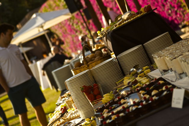 Buffet at Pool Reception 2015